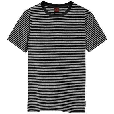 camiseta listrada cinza preto yeah